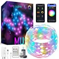 GuGar Smart Fairy Lights 32.8ft 100 LEDs, RGBIC LED Lights for Bedroom Indoor String Lights Music Sync, APP Remote Control for Valentines Day Decor, Works with Alexa Google Home Multi-Color