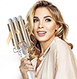 BESTOPE Hair Waver 3 Barrel Hair Curler Curling Tongs 25mm with 2 Temperature Control 30s Quick Heating for Long or Short Hair Styling, Curling Iron Large Wave Ceramic Hair Crimpers Iron