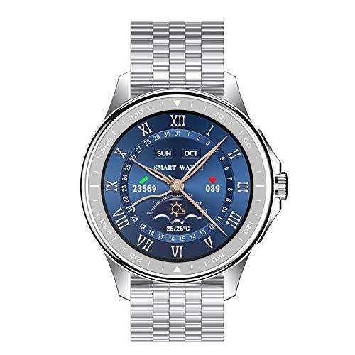 BNMY Smartwatch Llamada Bluetooth Reloj Inteligente Impermeable con Monitor Frecuencia Cardíaca Monitor Sueño Podómetro Seguimiento Actividad Física con Pantalla Táctil para Android iOS,A