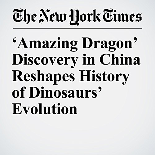 'Amazing Dragon' Discovery in China Reshapes History of Dinosaurs' Evolution copertina