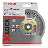 Bosch Professional Standard - Disco de corte de diamante (universal, X-LOCK, Ø115 mm, diámetro del orificio: 22,23 mm, anchura de corte de 2 mm)