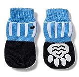 Akopawon 4 PC antideslizantes del animal doméstico del gato Calcetines Calcetines Calcetines de la pata protector de tracción de control SG