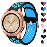 YPSNH Compatible para Samsung Galaxy Watch 42mm Correa de Silicona Suave de Doble Color 20mm Pulsera Deportiva de Repuesto para Galaxy Active/Active2/Galaxy Watch 42mm