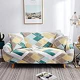 KOLIU Fundas elásticas para Fundas de sofá Funda de sofá elástica con Todo Incluido para sofá de Diferentes Formas Silla Loveseat Funda de sofá Estilo L-Amazon Geometric_Funda de cojín 2 Piezas_China