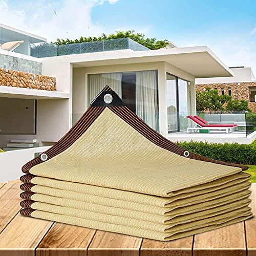 Neto De Sombra Al Aire Libre, Más Fácil De Colgar La Red De Sombra, Durable Garden Sun Protection Net, para Flores De Casa Patio Balcony Plant, Personalizable,Yellow-5x6m