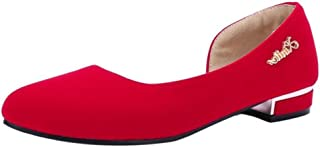 [BeiaMina] レディース シンプル パンプス ローヒール 歩きやすい 靴 ラウンドトゥ デザイン