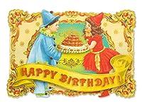 パンチスタジオ 【誕生日】 立体 グリーティングカード 封筒セット Sサイズ (男の子×女の子) 58754