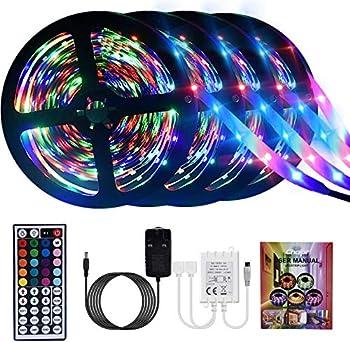 Elfeland 16.4ft RGB Color Changing LED Light Strip