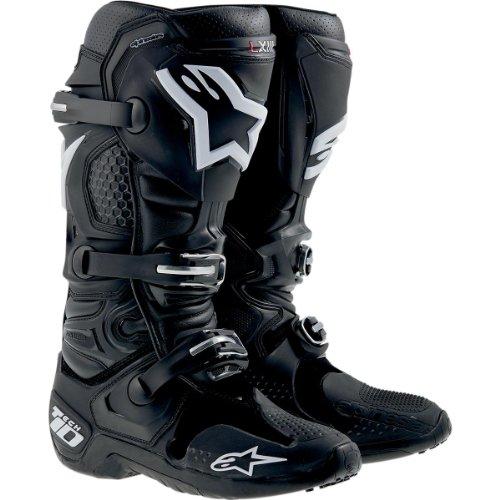 Alpinestars Tech 10 Stiefel, Farbe schwarz, Größe US 8 (EU 42)