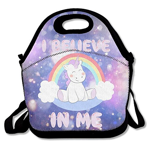 Girls Boys Food Lunch Tote Cute Unicorns Rainbow Waterproof Food Container Picnic School Work Portable Reusable Handbag Bags Boxes Lunchbox Outdoor Totes