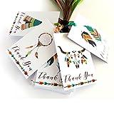 Adorebynat Party Decorations - EU boho tribales gracias, etiquetas - la novia de Baby Shower regalos de cumpleaños del partido Tribe - Set 24