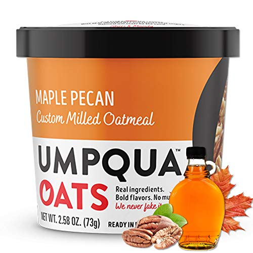 Umpqua Oats | All Natural, Premium Oatmeal Cups | No Mush, Custom Milled | Non-GMO (8 count) (Maple Pecan)