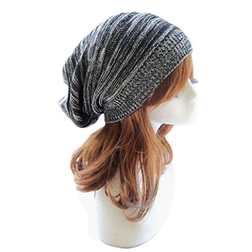 Winhurn Women New Stylish Winter Warm Knitted Baggy Beanie Cap Hat (Black) - http://coolthings.us