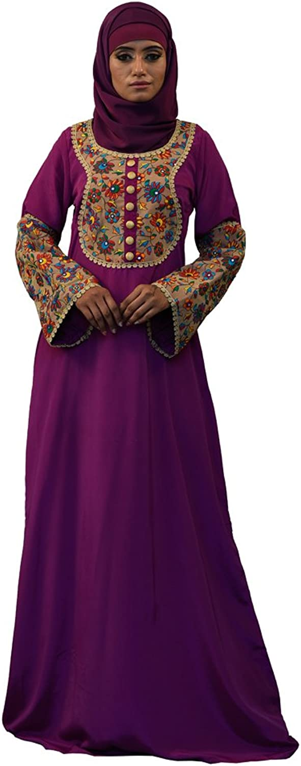 Kolkozy Fashion Modest Abaya Kaftan purple