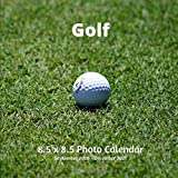 Golf 8.5 X 8.5 Calendar September 2020 -December 2021: Monthly Calendar with U.S./UK/ Canadian/Christian/Jewish/Muslim Holidays-Softball Sports and Recreation
