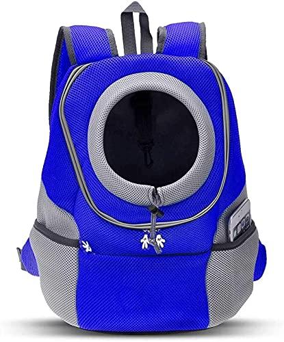 WWQQ Mochila de viaje para mascotas, bolsa de transporte para perros pequeños y gatos, diseño de líneas aéreas aprobado para bicicleta senderismo