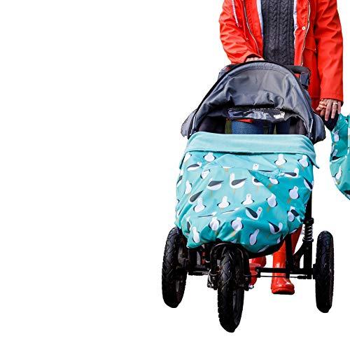 Universeller, wasserdichter Fußsack Für Kinderwagen, Autositz und Babytrage kann flach als Spielmatte ausgelegt werden   Universelle Passform für alle Altersgruppen von 0 bis 4 Jahren