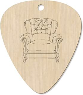 7 x 'Leather Armchair' Guitar Picks / Pendants (GP00023372)