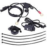 Kit de Cargador de Motocicleta, Universal de Motocicleta SAE a Doble USB, Impermeable, teléfono, GPS, Kit de Cargador, Adaptador de Cable, Fusible en línea
