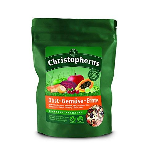 Christopherus Ergänzungsfutter, Flockenmischung, Obst und Gemüse, Getreidefrei, Obst-Gemüse-Ernte, 1er Pack (1 x 300 g)