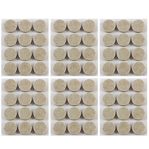 COM-FOUR® 72x ronde meubelglijders van vilt - zelfklevende stoelglijders - viltglijders voor meubels, stoel- en tafelpoten