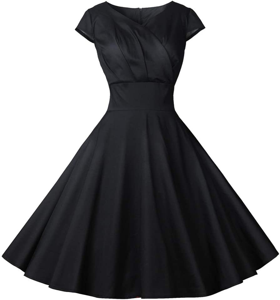 Dress,Women's Sales results No. 1 Cocktail Formal Swing Short Sleeve Dress Dot Animer and price revision