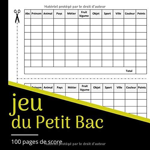 jeu du Petit Bac: Jeu de Société, jeu du baccalauréat,...