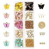 NIBESSER Schmetterling-Anhänger Basteln Charm Schmuckanhänger Ohrringe Armbänder Halskette DIY Halskette Armband Ohrringe DIY Schmuck Basteln für Schmuckherstellung...