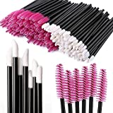 Tbestmax 200 Disposable Mascara Wand Spoolies and Lip Brushes, Lipstick Lipgloss Applicator for Eyebrow Eyelash Extension Makeup Kits