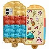 ESSTORE Funda para iPhone 12/12 Pro, Push Bubble Sensory Fidget Toy Case Stress...