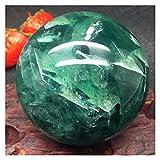 YSJJDRT Cristallo Naturale Grezzo Guarigione della Sfera della Sfera della Sfera di Cristallo del Quarzo di Fluorite Naturale (Size : 40-50)