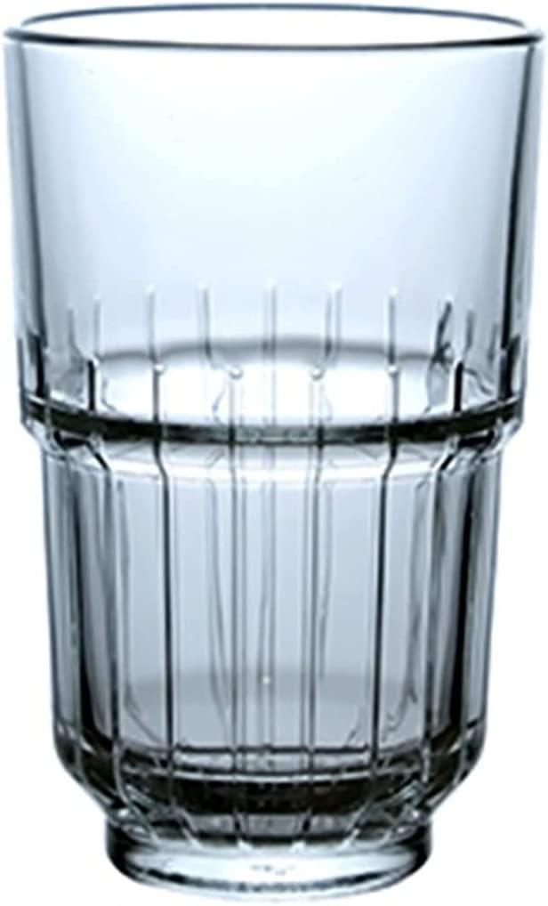 Set of free shipping 2-8.45Oz Classic Gorgeous Line Textured Highball Optic Design Drin