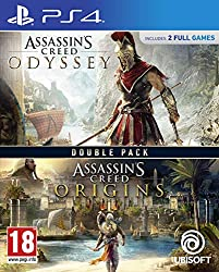 2 games in one pack from the award winning Assassins Creed franchise In Assassins Creed Odyssey a first for the franchise, you can choose which hero to embody throughout this epic journey, Alexios or Kassandra Your decisions shape the world around yo...