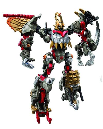 Hasbro Transformers Power Core Combiners Series Robot Action Figure - Autobot GRIMSTONE with 4 Dinobots (Spinosaurus Drone, Pachycephalosaurus Drone, Parasaurolophus Drone and Ankylosaurus Drone)