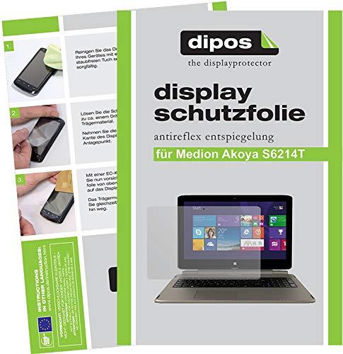 dipos I 2X Schutzfolie matt kompatibel mit Medion Akoya S6214T MD99380 Folie Bildschirmschutzfolie