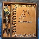 Futaikang - Taccuino creativo Totoro in legno, con copertina in stile retrò, 18,5 x 3,5 cm