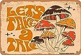 BIGYAK Letrero de hierro con aspecto vintage de 20 x 30 cm, decoración de manualidades, para el hogar, cocina, baño, granja, jardín, garaje, citas inspiradoras, decoración de pared