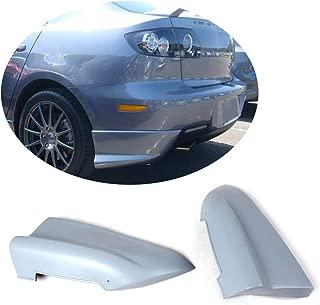 MCARCAR KIT Rear Bumper Splitter fits Mazda 3 Axela Sedan 2006-2010 Customized Unpainted Primer Polyurethane PU Moulding Upper Spoiler Winglets Vents Cover Flaps