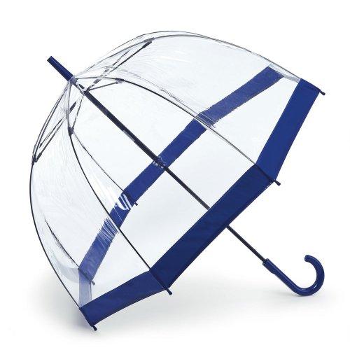 Fulton Damen Regenschirm - Blau - Navy Border - Einheitsgröße