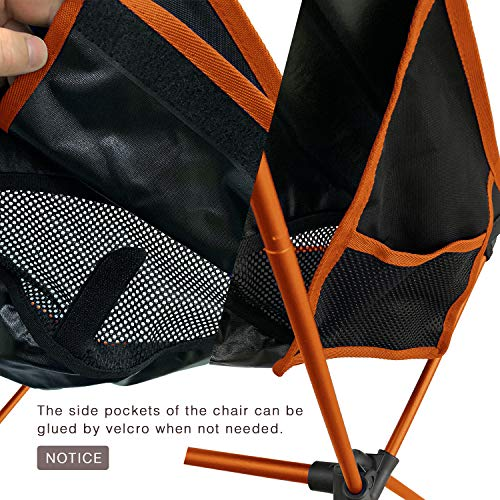 MOON LENCE Outdoor Ultralight Portable Folding Chairs with Carry Bag Heavy Duty 242lbs Capacity Camping Folding Chairs Beach Chairs