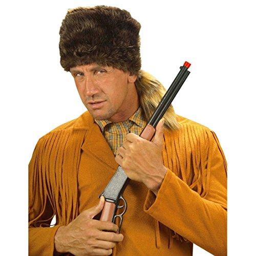 NET TOYS Trapper Hut Fell Mütze Pfadfinder Spurenleser Pfadfindermütze Trapperhut Fährtenleser Fellmütze Daniel Boone Karneval