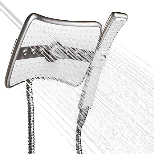 AKDY 9 Inch 4-Spray Multi-Function Rainfall Shower Head &...