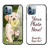 Oududianzi- Personalisierte Hülle kompatibel mit iPhone 12/12 pro Handyhülle, Benutzerdefiniert Hülle mit Ihren Eigenen Fotos LieblingsMotiv, Kratzfest Stoßfest Gehärtetes Glas Schutzhülle