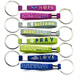 (12-Pack) Christian Inspirational Bible Keychains -...