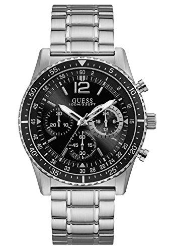 Guess Mens Chronograaf Quartz Horloge met RVS Band W1106G1