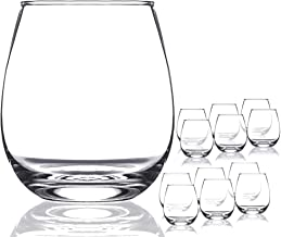 Chef's Star Shatter-Resistant Stemless Wine Glass Set (12 Pack)