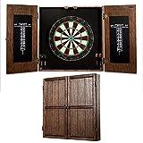 BARRINGTON BILLIARDS Webster Bristle Dartboard Cabinet Set:...