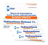 Hydrocortisone Maximum Strength Ointment 1%, USP 1 Oz (Compare to The Active Ingredients in Cortizone-10) (3-Pack)