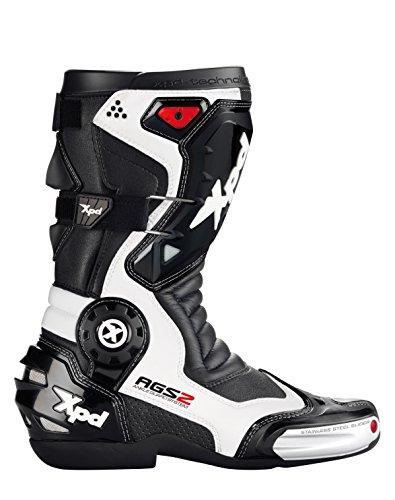 SPIDI Sport S.r.l. (EU) XPD S42-011-48 Racing Motorradstiefel XP7-R, schwarz/weiß, Größe 48