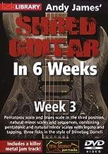 Hal Leonard 393160 Andy James' Shred Guitar in 6 Weeks, Week